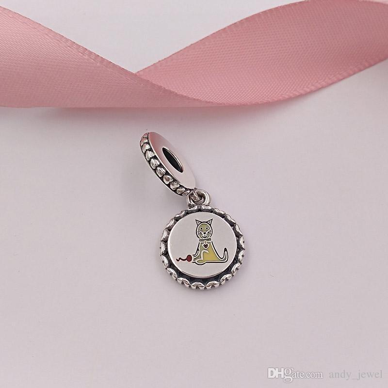 La figura de la familia 925 de plata esterlina figura encantos del palillo incluye el collar de las pulseras del estilo del pandora europeo del perro de la muchacha del muchacho y del gato