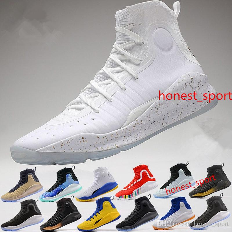 d08fa37ca773 2019 STePhEn 4 IV Basketball Shoes Curry 4S Gold Championship Steph ...