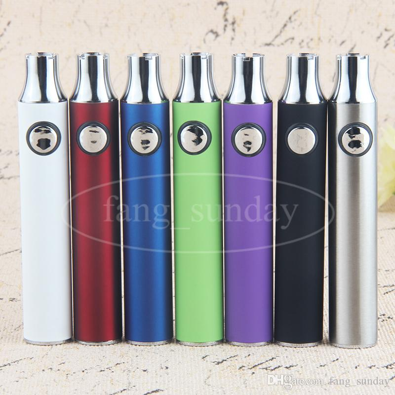 Vod vaper e cig batteria batteria voltaggio regolabile 650mAh preriscaldamento VV preriscaldatore vaporizer penne olio denso cartucce di vape monouso