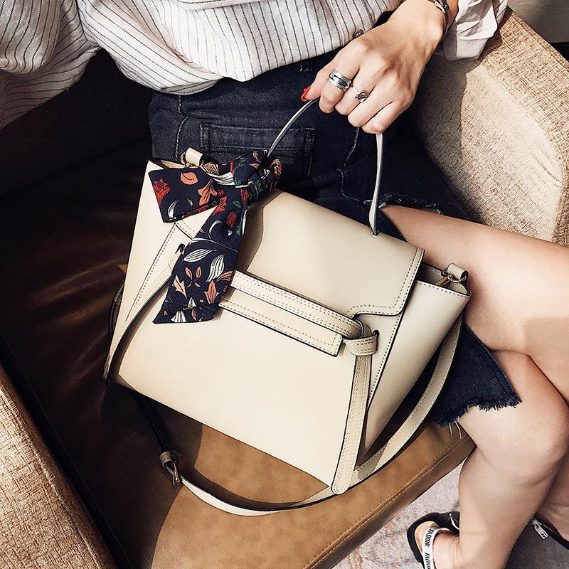 84581da2a255 HISUELY Hot Sale New Women PU Leather Handbags Silk Scarf Fashion Designer  Black Vintage Shoulder Bags Women Messenger Bag Designer Handbags School  Bags ...