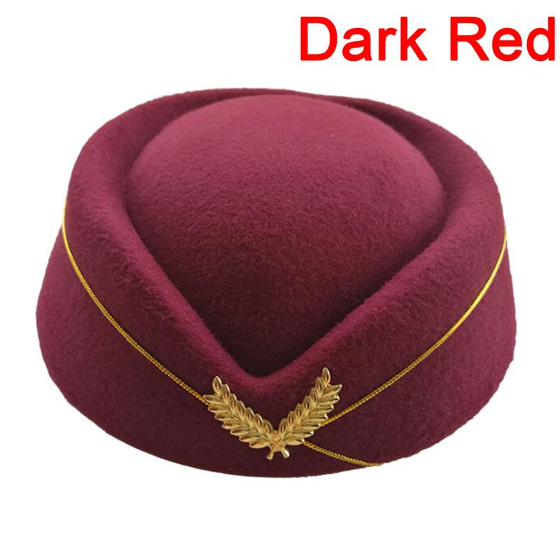 2019 Professionals Ladies Elegant Wool Fedoras Hats Airline Stewardess Hat  Costume Etiquette Cap For Women From Wonderliu cf12c5ea72f