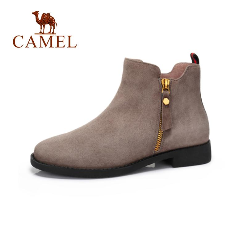 0838b843d261 CAMEL Genuine Leather Short Boots Women Winter Low Heeled Sample Korean  Style Short Boots Shoes Low Heeled Shoe Boots Sale Wedge Boots From  Snailhome