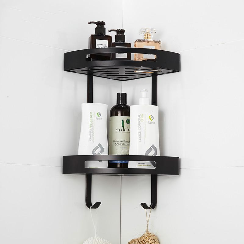 2019 Europe Antique Black Bathroom Shelf Toilet Corner Rack 304