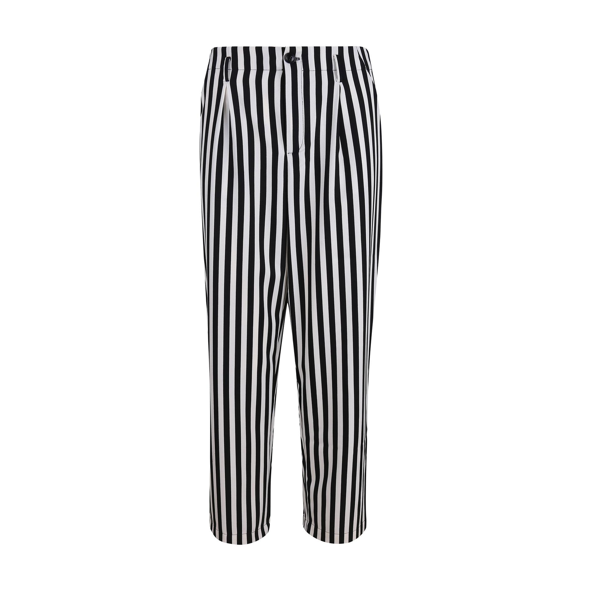 200a6df3dc 2019 Dotfashion Self Tie Waist Striped Pants Black And White Mid Waist Crop  Straight Leg Trousers Women 2018 Spring Casual Pants From Youfanweistore,  ...