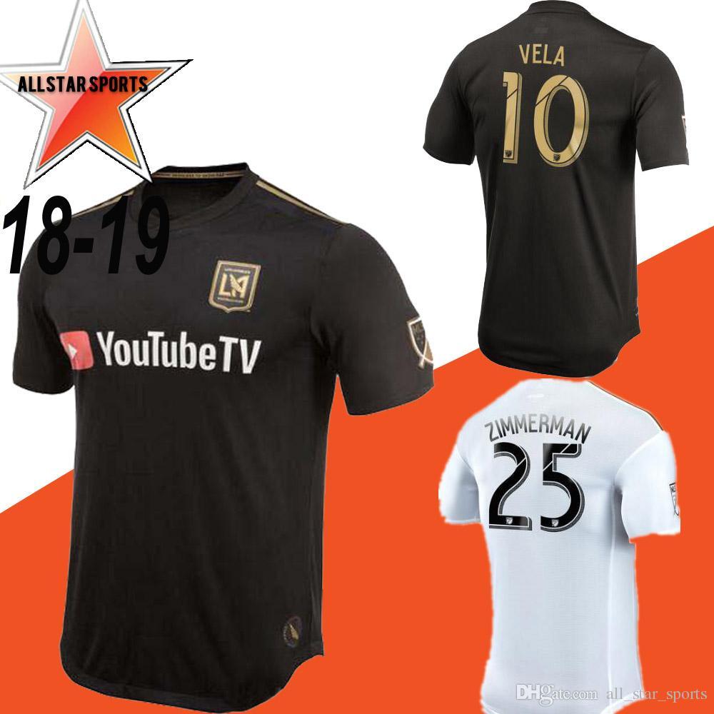 6da2058a9 NEW Arrived 2018 LAFC Carlos Vela Soccer Jerseys 18 19 Home GABER ...