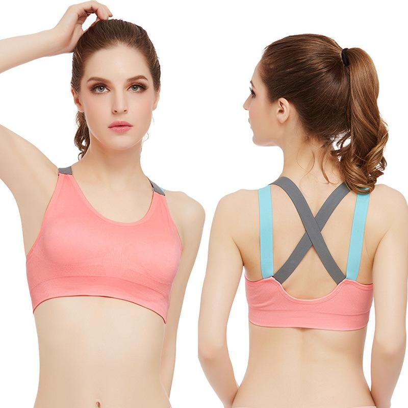 ea8bd54c5ee53 Gym High Grade Sports Bra Women Fitness Running Bra Tops Yoga Cross ...