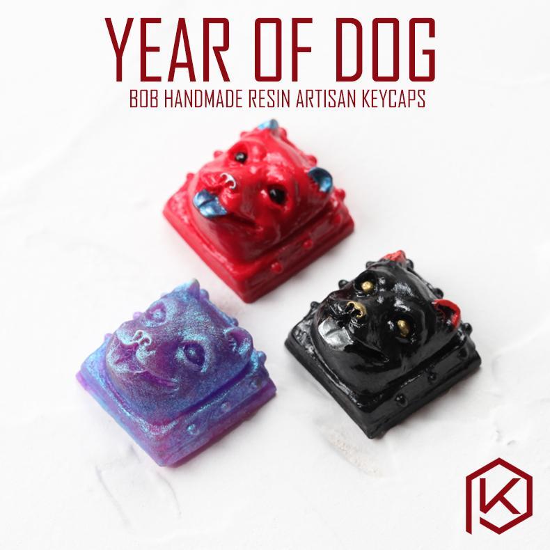 Groupbuy Free shipping BoB Year of Dog Resin Artisan Keycaps Novelty for  custom mechanical keyboards oem cherry profile