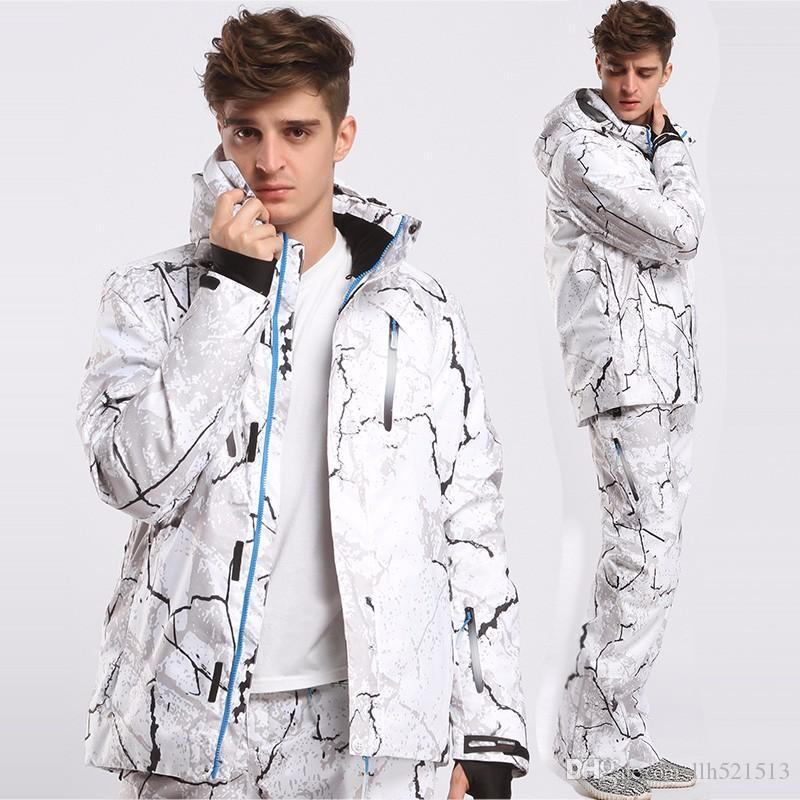 f8ece31300 2019 New Style Men Ski Suit Super Warm Clothing Skiing Snowboard Jacket+Pants  Suit Set Windproof Waterproof Winter Outdoor Sport Wear From Llh521513