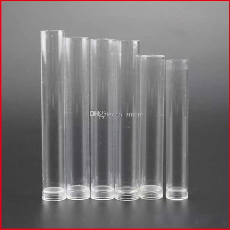 vaporizer glass cartridge 0.5ml 1ml plastic clear tube containers for cartridge bud atomizer packaging DHL