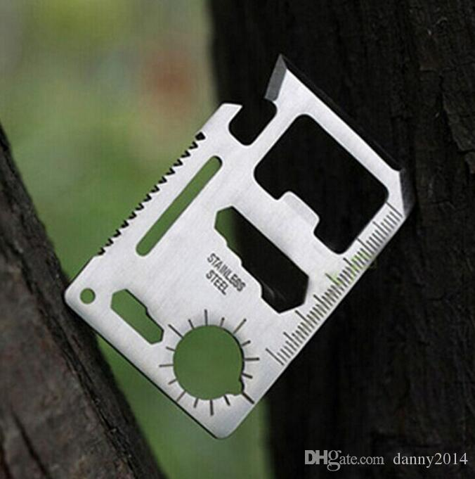 Mini Stainless Steel Multi Pocket Credit Card Tool Portable Outdoor Survival Camping Wallet Card Tools Knife Outdoors Gear EDC Tools