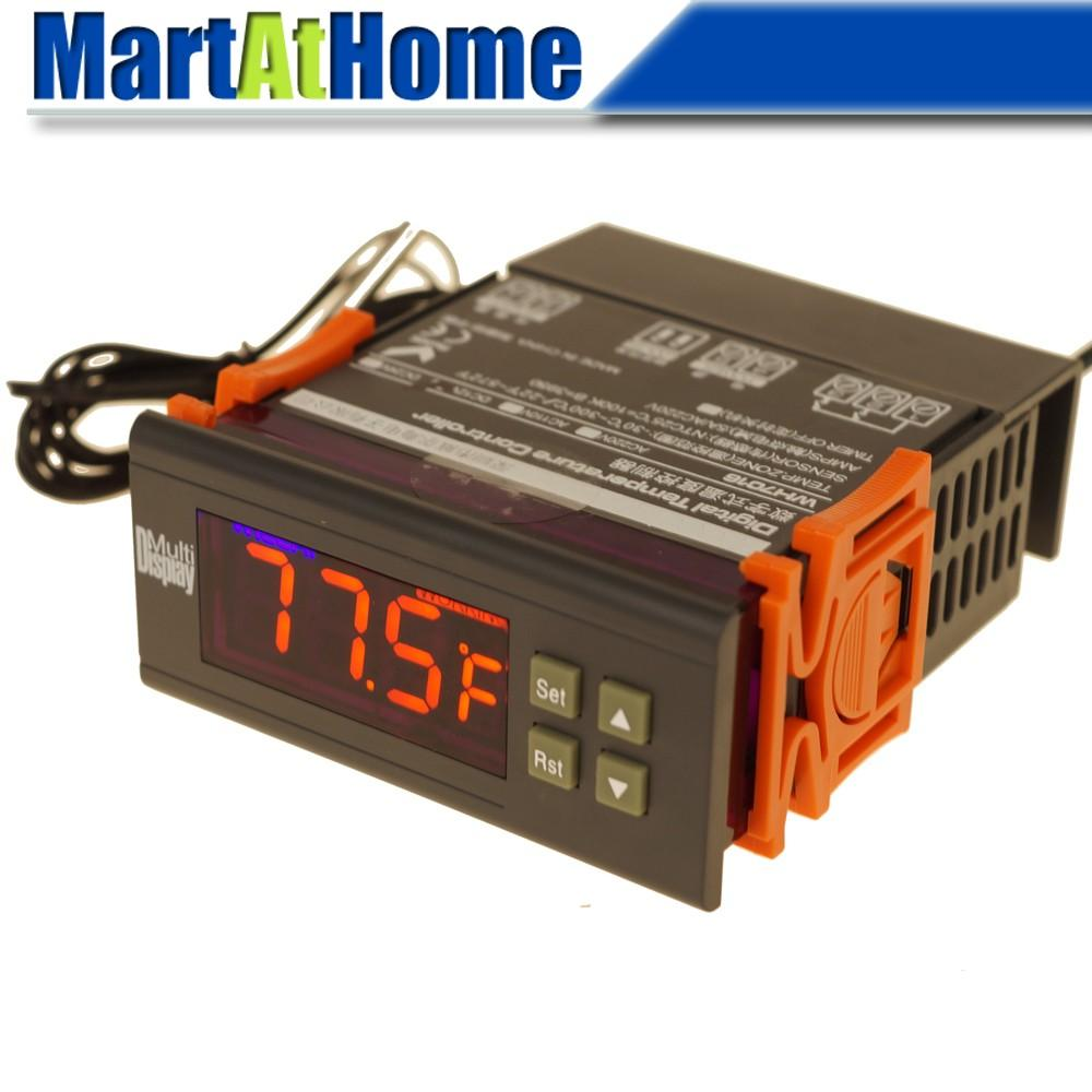 WH7016H+ Temperature Controller -58 to 230 F / -50 to 110 C Cooling and Heating Automatic Switching w/ Alarmer & Probe