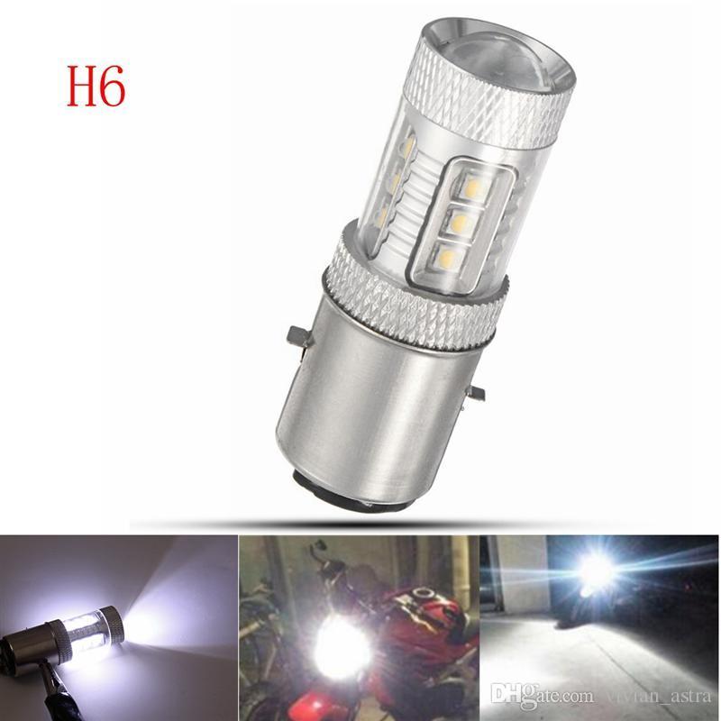 Motorcycle Headlight P15D H6M H6 ba20d h7 h4 80W 16SMD LED Super Bright High-power Motorbike Brake Lights Turn Signal Lamp Reversing Bulbs