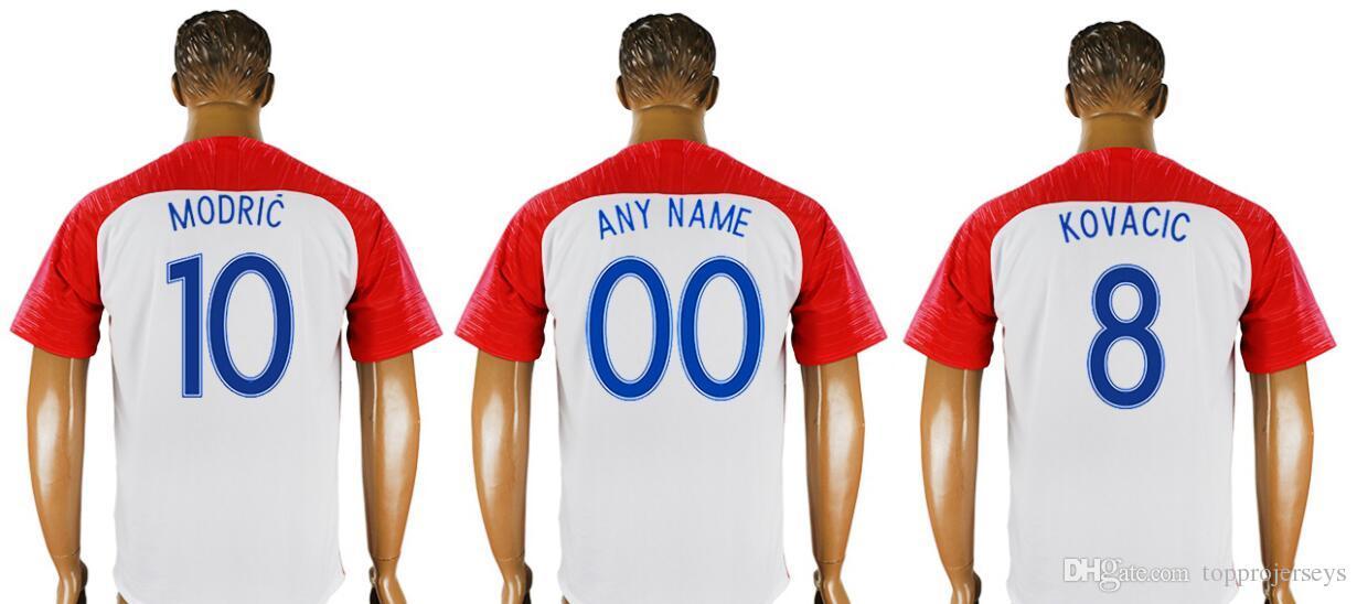 f265f3228 2019 2018 World New Mens  4 Ivan Perisic 7 Ivan Rakitic 10 Luka Modric  Football Shirts Team Home Thai Quality Sports Pro Custom Soccer Jerseys  From ...