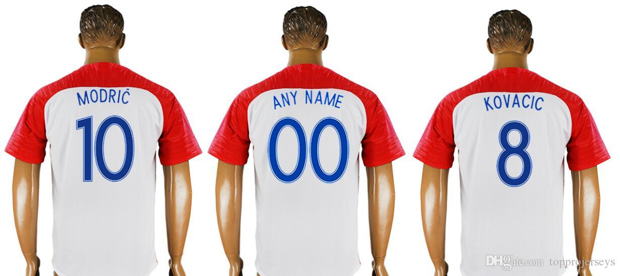 dc3fed5b9 2019 2018 World New Mens  4 Ivan Perisic 7 Ivan Rakitic 10 Luka Modric  Football Shirts Team Home Thai Quality Sports Pro Custom Soccer Jerseys  From ...