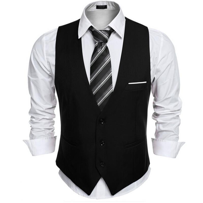 7ecf706417 Compre Chalecos De Vestir Para Hombres Chaleco De Traje Ajustado Chaleco De Hombre  Chaleco De Hombre Casual Chaleco Informal Chaqueta De Trabajo Formal A ...