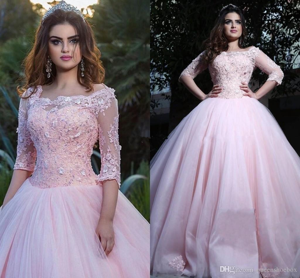 e7ce5d24d Vestido De 15 Anos 2018 Jewel Lace Applique Corset Masquerade Ball Gown  Prom Formal Evening Wear Sweet 16 Dresses Quinceanera Long Sleeve 2015  Dresses ...