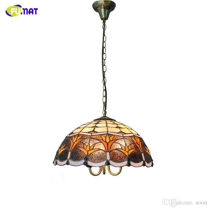 fumat tiffany pendant lights classic lucky grass shade light for