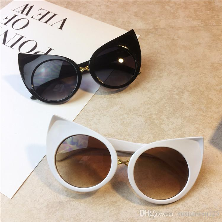 85302b275c0 New Fashion Cute Sexy Ladies Cat Eye Sunglasses Women Vintage Brand ...