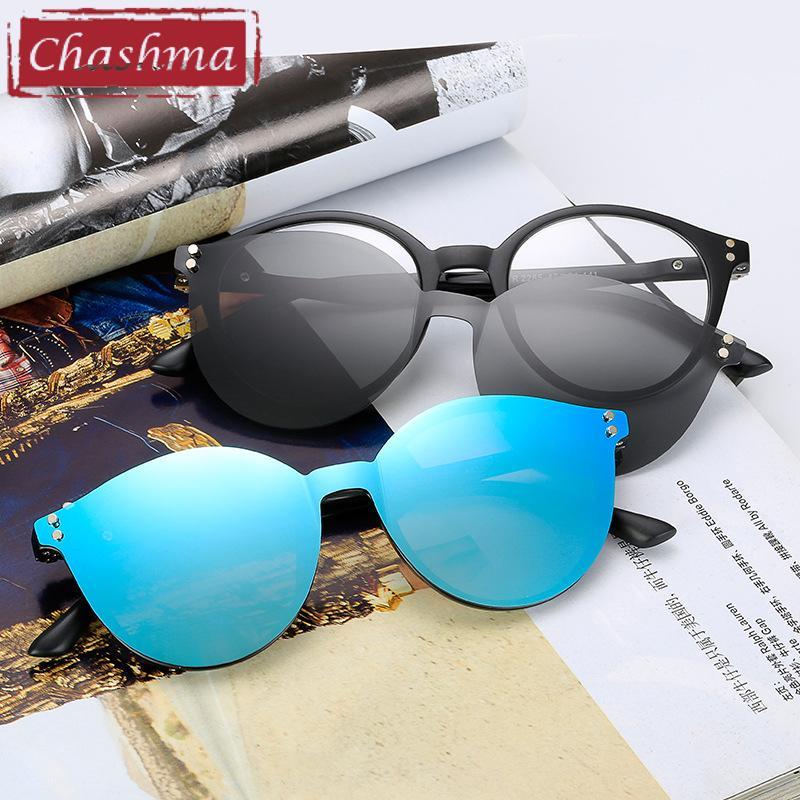 daa57d0ceb Compre Chashma Brand TR90 Gafas Retro Flexibles Mujeres Clips Lentes  Polarizadas Imán Hombres Gafas De Sol Espejo Gafas Ópticas Marcos Redondos  A $29.57 Del ...