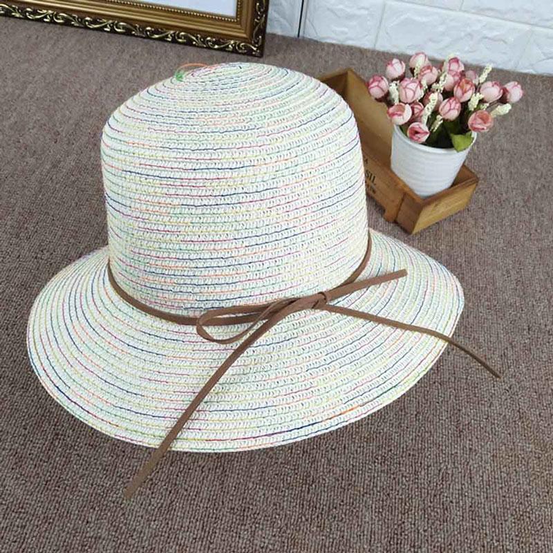 Compre Sombrero De Las Mujeres Del Verano Protección Solar Sombreros Para  El Sol Playa Al Aire Libre Casquillo De La Paja Gorras Casuales Del Pescador  Envío ... d6cf4e35302