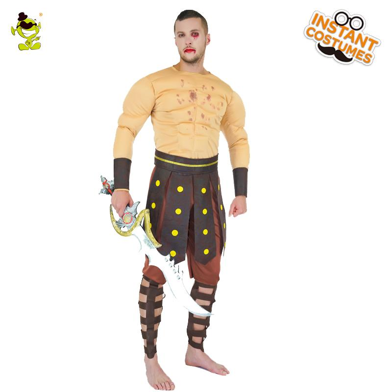 Roman Warrior Costumes Masquerade Party Men Costume Gladiators Knight Adult  Cosplay Theme Outfits