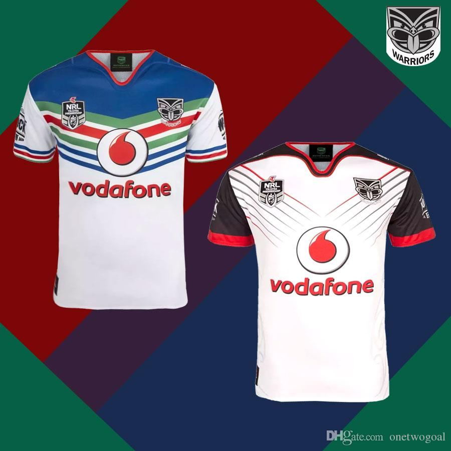 2018 New Zealand Warriors Rugby Jerseys 2019 NRL Home Away Warriors ... aacebfc39