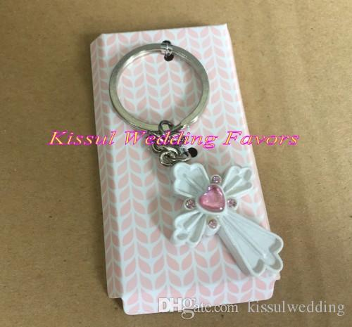 Wedding and Party Communion Favors of Cross Key Chain blessing time favor for Bridal showers and Birthday Gift