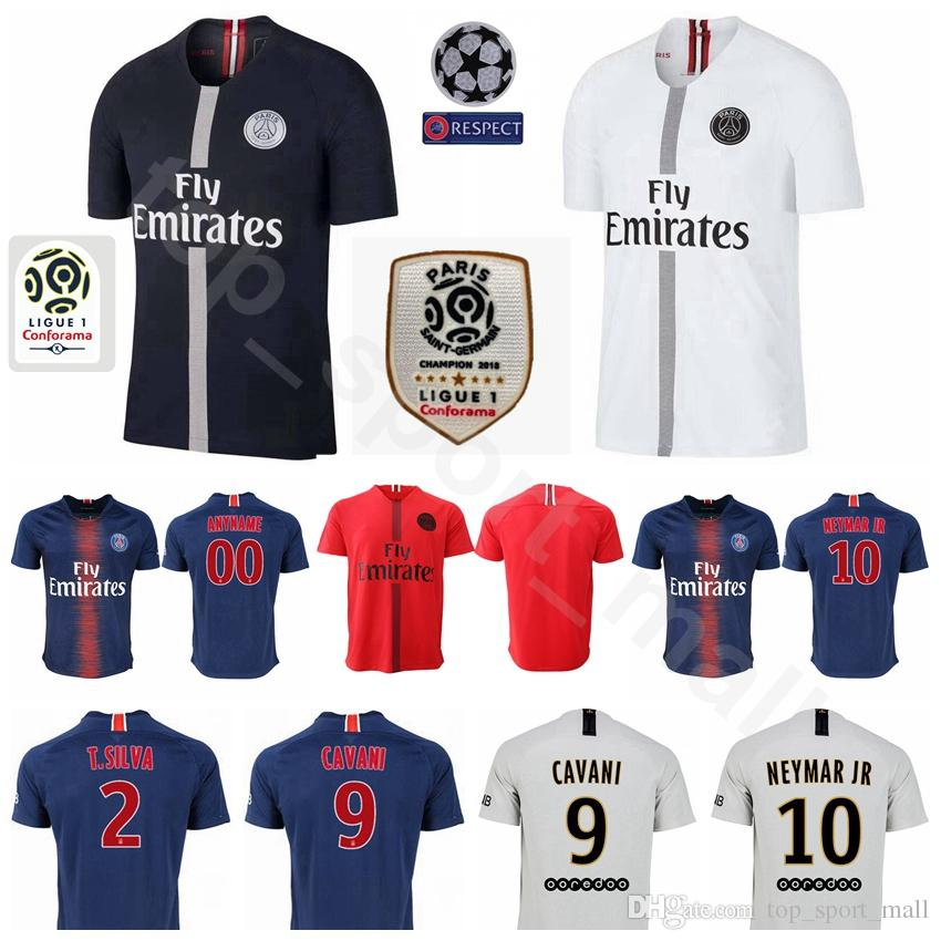f841ffe782163 2019 2018 2019 FC Paris Saint Germain AJ Soccer KIMPEMBE Jersey PSG Maillot  De Foot KURZAWA RABIOT IBRAHIMOVIC Football Shirt Kit Uniform White From ...