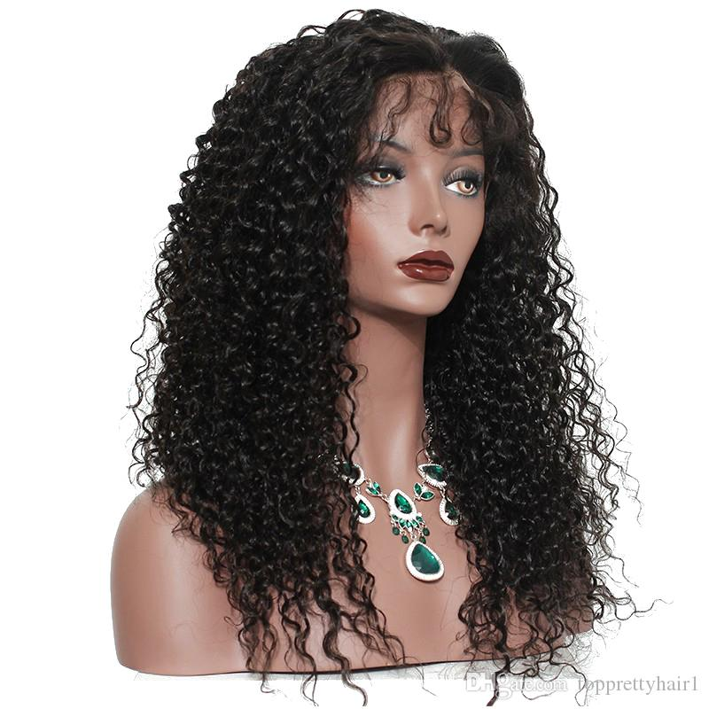 Real Hair Curly Wigs For Black Women Human Hair Curly Full Lace Wig Natural Curl Wigs Indian Remy Lace Front Curly Wig