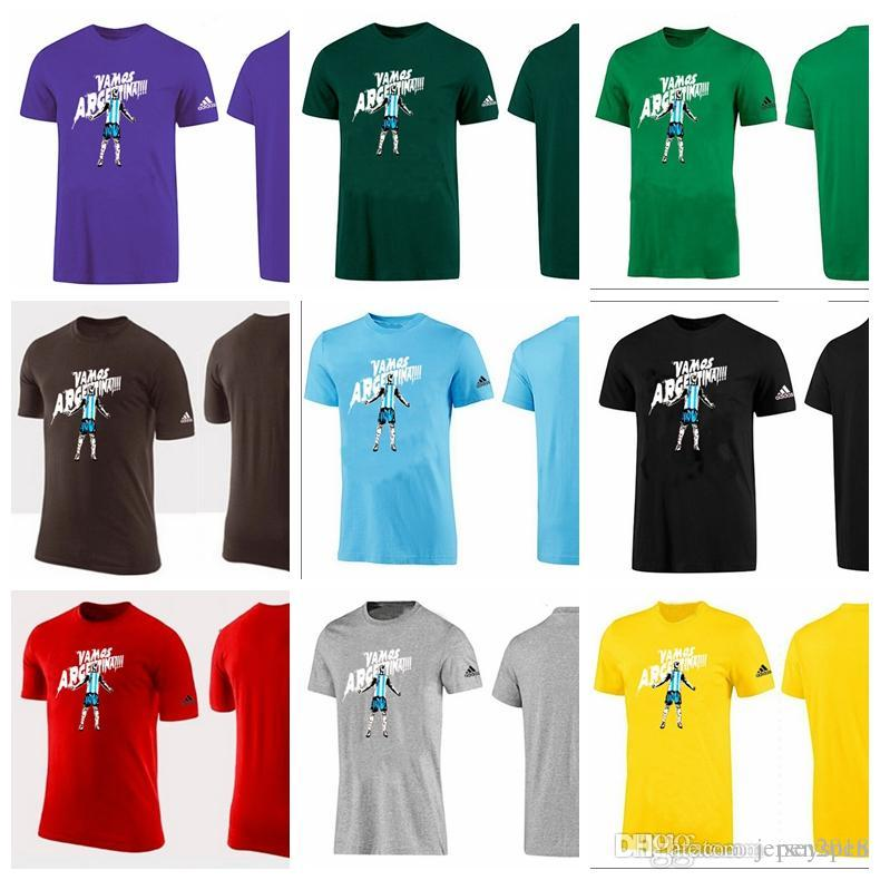 6922be349 2019 New Comfortable World Cup Football Printing Vamos Argetinat Quick Dry  Breathable Circular Collar Pure Color Sports T Shirt From Jerseyspen, ...