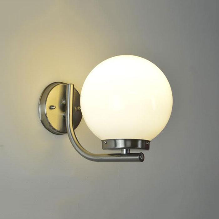 E27 Led Jour Boule Lampe Mural De Applique Porche Éclairage D20cm Moderne Abat Murale Acrylique Givré Extérieur 8wn0OkP
