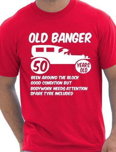 50th 50 Herren Lustige Alter 50 Geburtstag T Shirt Old Banger Grosse