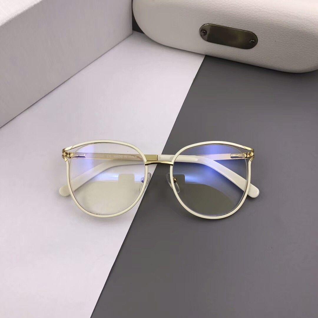 Nuevo marco de anteojos 2126 gafas de montura de gafas marco Hombres Mujeres La miopía de los vidrios de la lente clara con el caso original