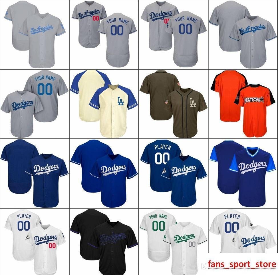 2019 Custom Men Womens Youth LA Dodgers Baseball Jerseys White Gray Black  Cream Blue Stitched Any Name Any Number Flex Base Cool Base Jersey Canada  2018 ... d5a22a1be