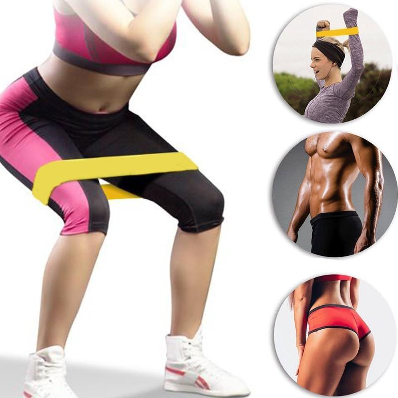 Workout Bands That Won T Break: Exercise Resistance Loop Band Set In Home Gym Elastic