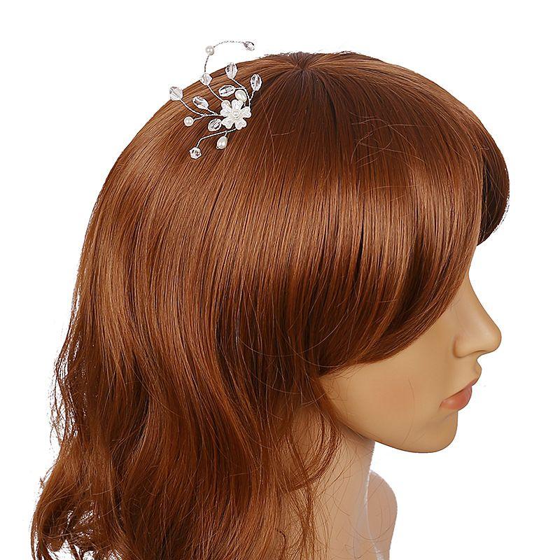1 Psc Contas De Cristal Artesanais Flores Pinos de Cabelo Acessórios Para o Cabelo de Noiva Jóias Pérola Do Vintage Do Casamento Do Cabelo Varas Pageant Hairpin