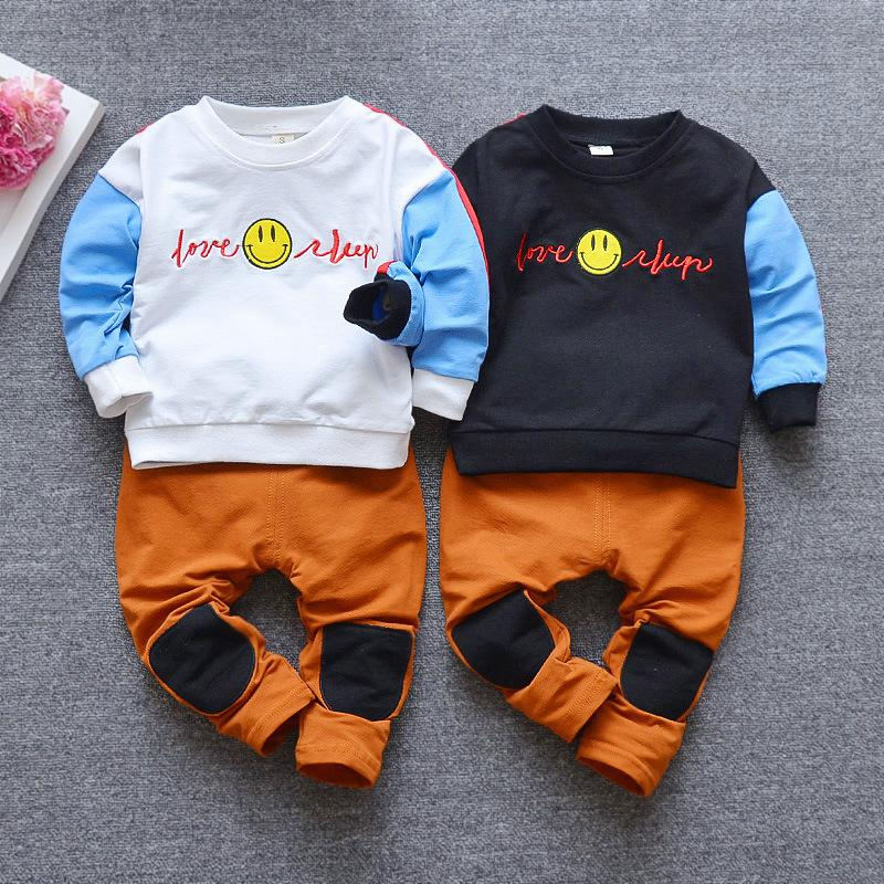 679007324 2018 DIIMUU Spring Fashion Kids Clothing Boys Girls Casual Outfits Baby  Clothing Cute Long Sleeve Pullovers Tops Pants Patchwork Sets From Dejavui,  ...