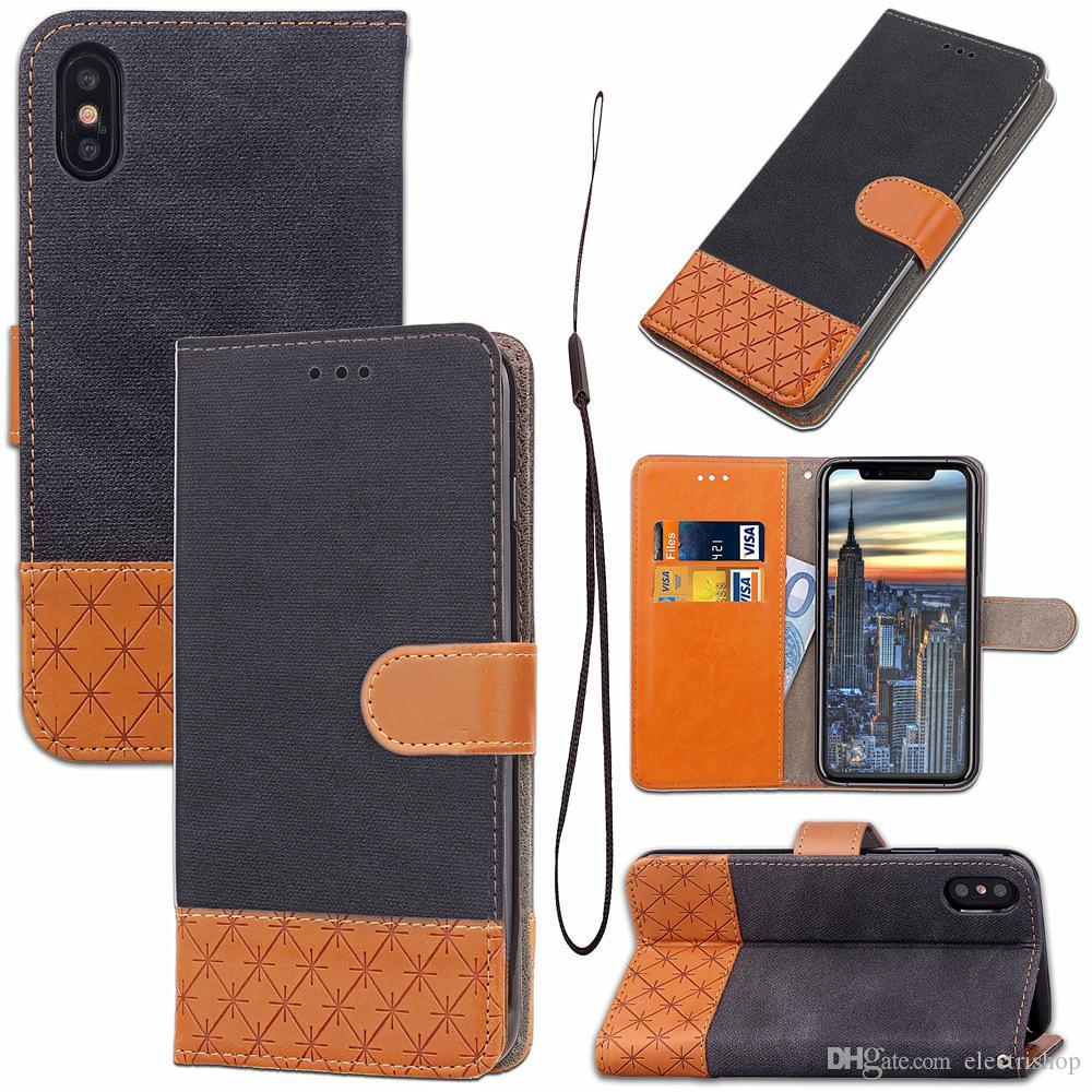 Gift For iPhone X 7 8 Plus Premium Wallet Case 2in1 Multi-functional vintage PU Leather Phone Cases for samsung