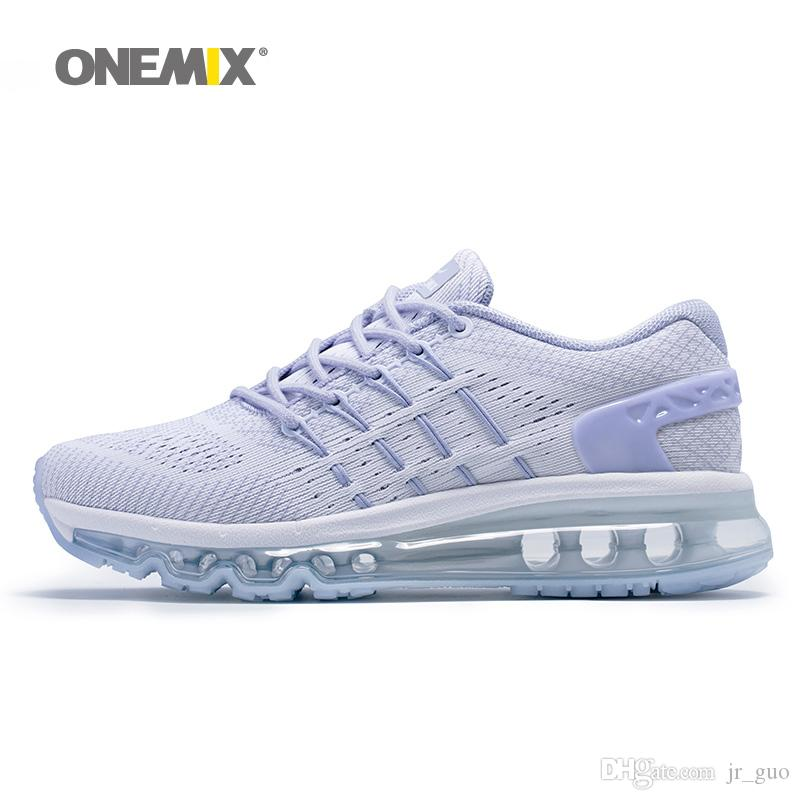 ONEMXI 2018 Woman Running Shoes For Womens Air Cushion Shox Athletic  Trainers White Trail Sports Unique Shoe Tongue Outdoor Walking Sneakers UK  2019 From ... 86a34847a10e