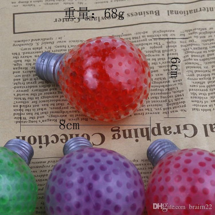 Creative lamp beads decompression TPR toys soft bubble squeezed Le vent ball