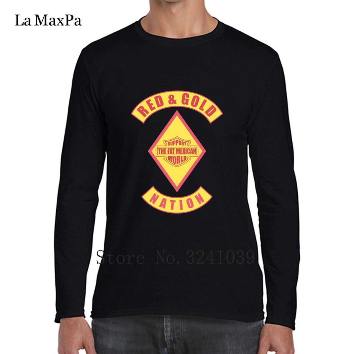 La Maxpa Red Gold Nación Bandido Tee Shirts Camiseta Regular chistosa para hombres Camiseta simple masculina Anti-Arrugas de algodón