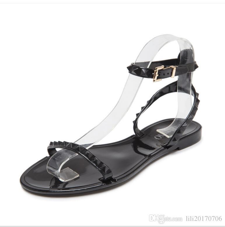 Yeni 2018 Yaz Ayakkabı Kadın Sandalet Güzel Çiçek Jöle Ayakkabı Katı Rahat Slaytlar Sandalias Moda Flats Terlik