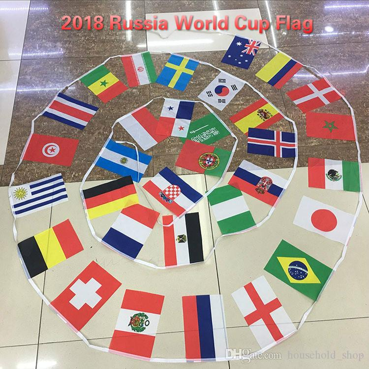 2018 russia world cup flag football cup 32 country strings flags 14