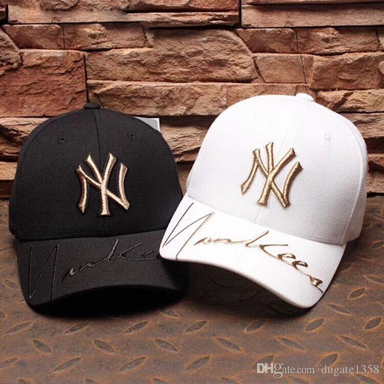 Купить Оптом NY Шляпы Для Мужчин Дизайн NY Cap Девушка Бейсболки Для Женщин  Папа Шляпы Регулируемые ВС Snapback Шляпа Лето Открытый Шапки Высокое  Качество ... c72d00d2b9c2c