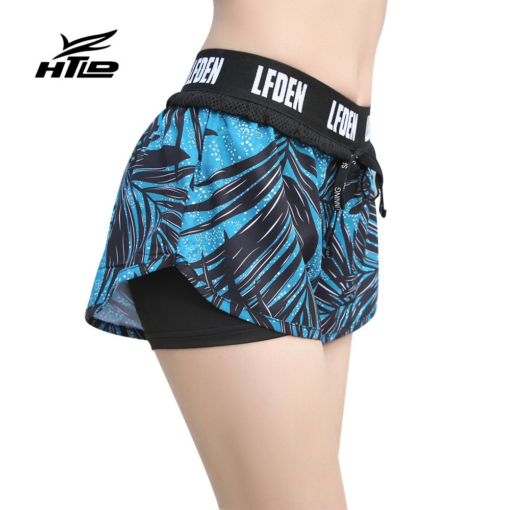 7cf61d021b61 2019 HTLD Gym Quick Dry Running Shorts Women Elastic 2 In 1 Sport Shorts  Fitness Summer Exercise Hot Yoga Tennis Femme From Booket