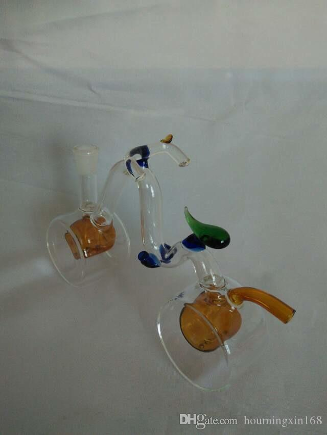 Le narguilé de bicyclette, bongs de verre en gros tuyaux de brûleur à mazout de conduites d'eau pipe en verre de tuyaux de forage d'huile de r