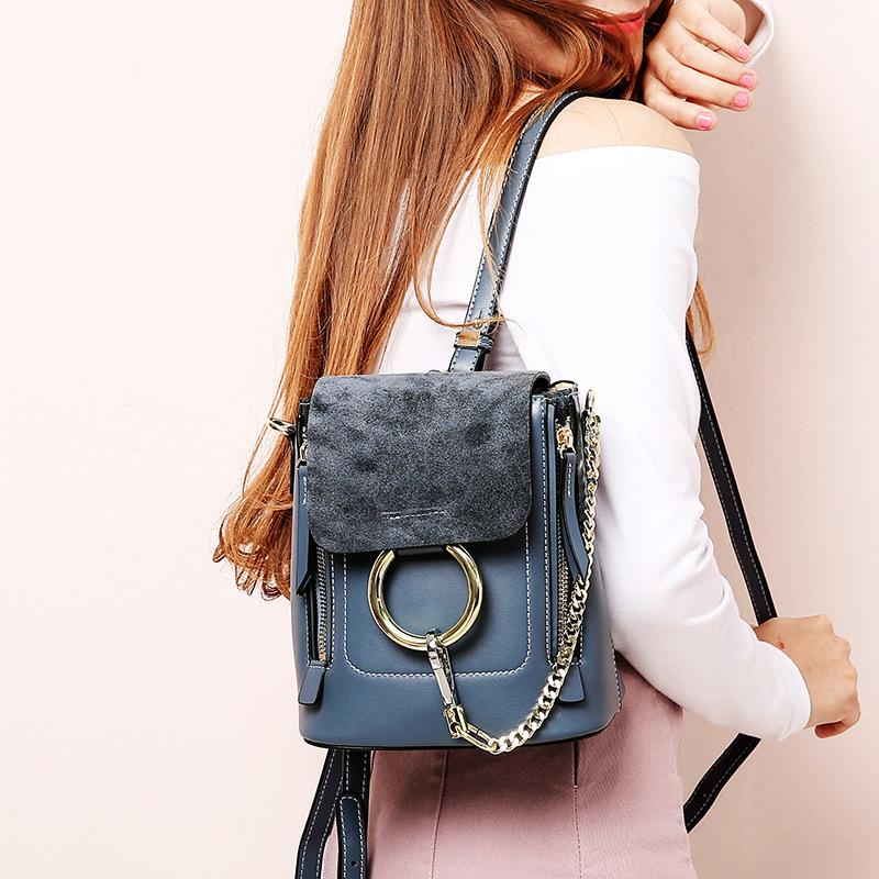 a99abf0197d0 New Leather Handbags Summer Small Backpack Cross Body Bag Ladies Bag  Leather Shoulder Slung Ring Backpack Leather Backpack Purse Handbags For  Sale From ...