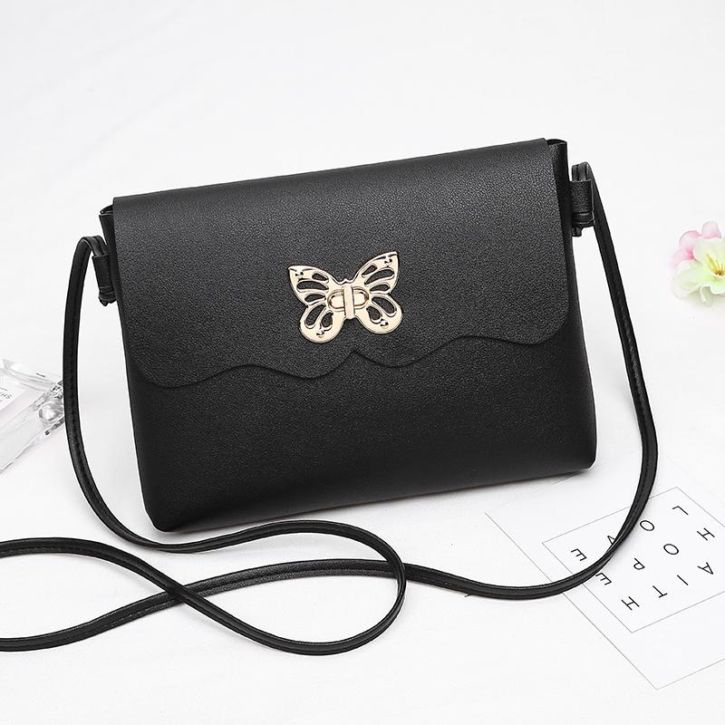 2018 New Small Women Messenger Bags Butterfly Lock Flap Handbag Women Bag  Lady PU Leather Purse Cheap Crossbody Bags For Girls Leather Handbag  Branded ... b18746be03208