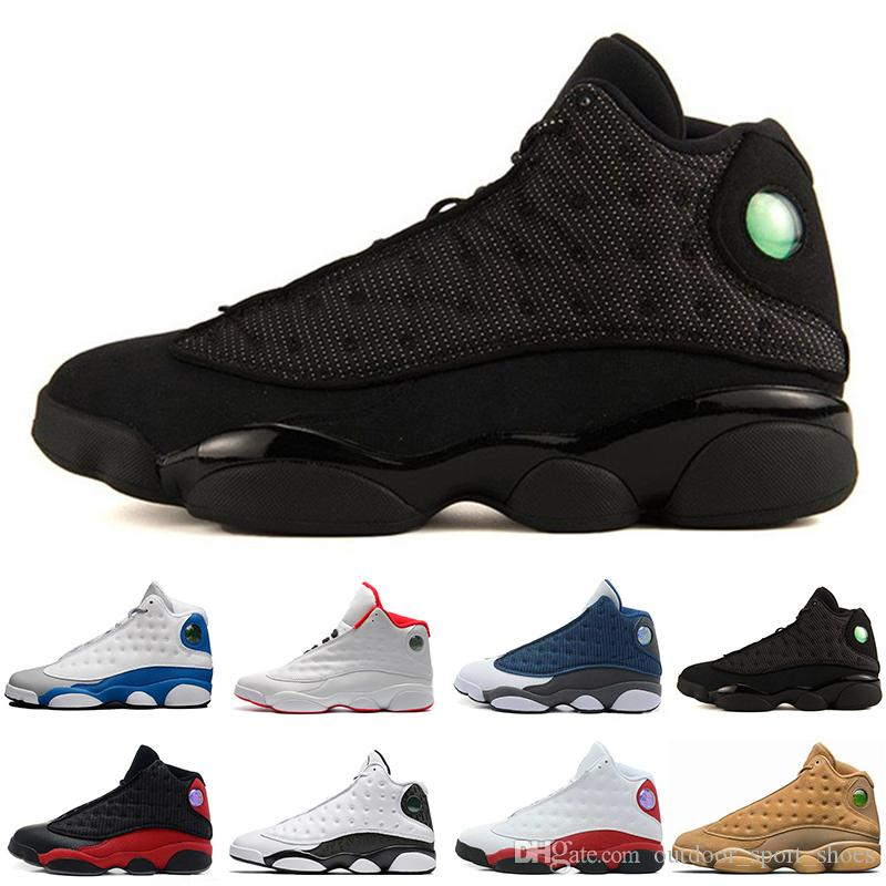 49e766345a5b Cheap New 13 13s Black Cat 3M Reflect Men Women Captain America Basketball  Shoes 13s Flint Bred Olive Gym Red Sneakers High Quality