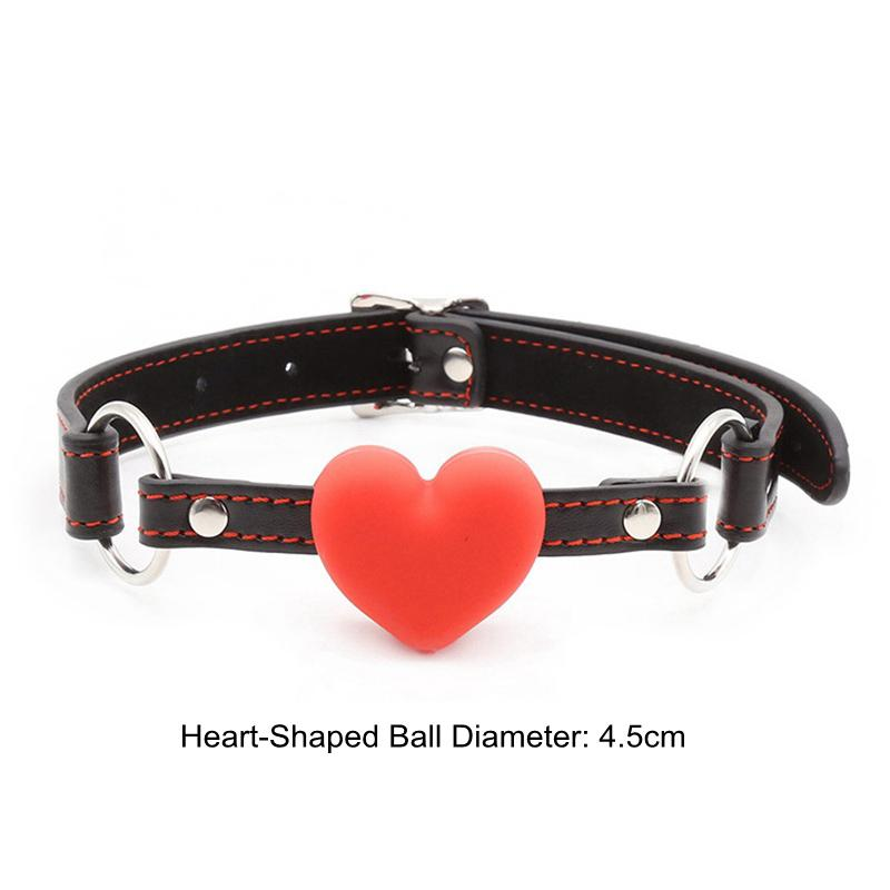 BDSM Bondage Toys Erotic Products Silicone Dog Bone Heart-Shaped Ball Gagged Mouth With Buckle Adult Games Sex Slave Bondage Cosplay Toys